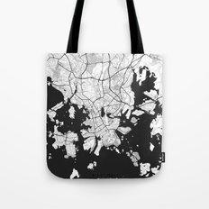Helsinki Map Gray Tote Bag