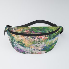 Pond in flowers Fanny Pack