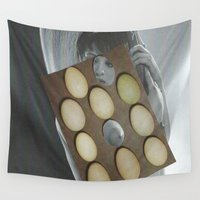 eggs Wall Tapestries featuring eggs by anitaa