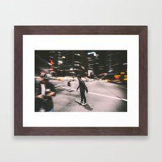 Skate in street 4 Framed Art Print