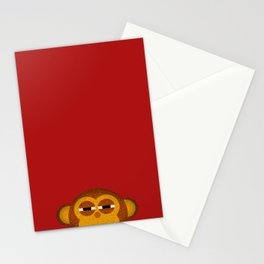 Pocket monkey is highly suspicious Stationery Cards