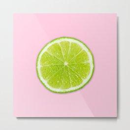 Pink Lime Metal Print