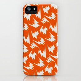 lightning pattern iPhone Case