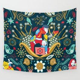 Technological folk art Wall Tapestry