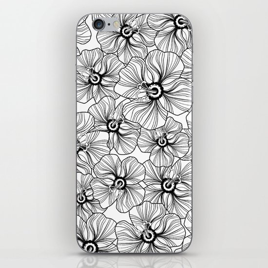 My garden. black and white.  iPhone & iPod Skin