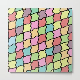 Rainbow Zigzagee Metal Print