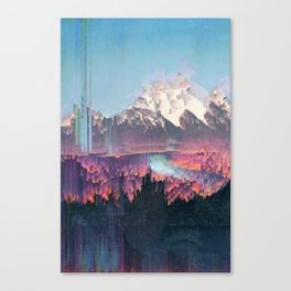 Glitched Landscapes Collection #2 Canvas Print