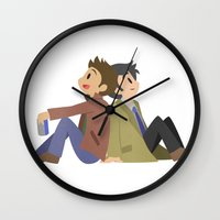 destiel Wall Clocks featuring Supernatural - Destiel [Commission] by Choco-Minto