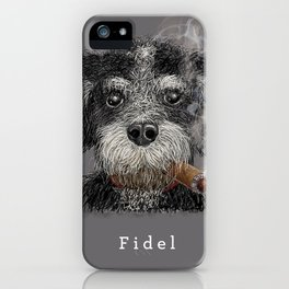 Fidel - The Havanese is the national dog of Cuba iPhone Case