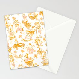 Astrology-Inspired Zodiac Gold Toile Pattern Stationery Cards