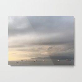 Grey Barges Metal Print