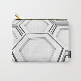 Honeycomb pattern of glowing hexagons Carry-All Pouch