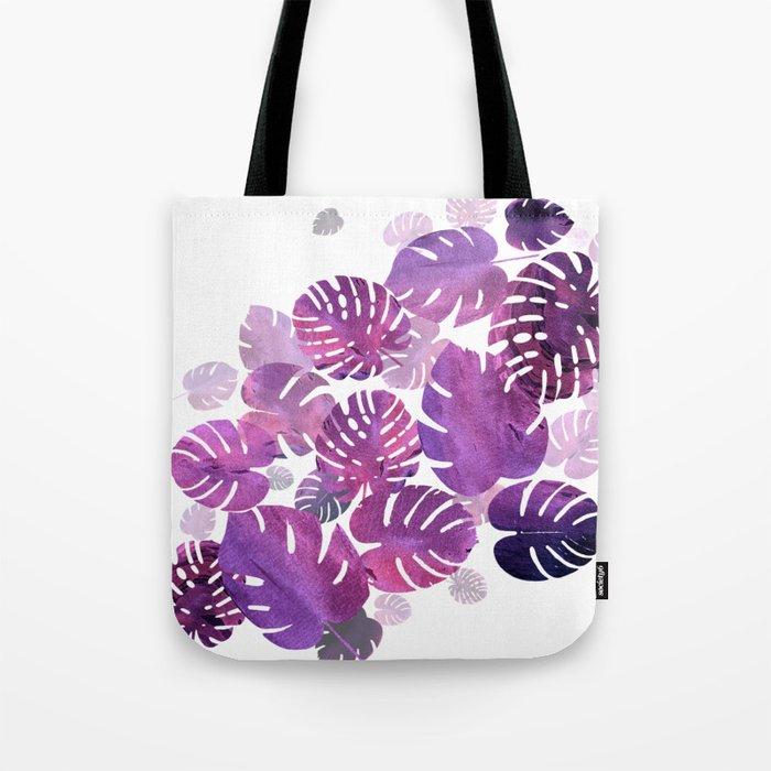 Violet Tropical Tote Bag