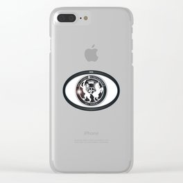 MI6 Oval Badge (Millitary Intelligence Section 6) Clear iPhone Case