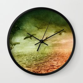 no more water left Wall Clock