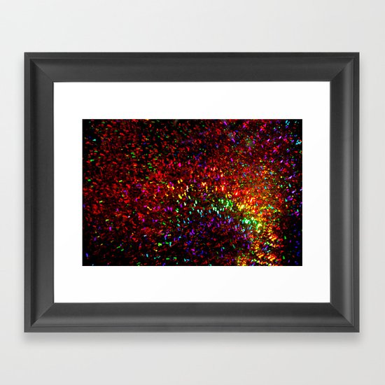 Fascination in gold-photograph of colorful lights Framed Art Print