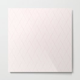 Blush Pink Art Deco Argyle Diamonds Metal Print
