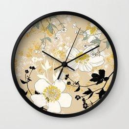 Ranunculus Big Size Wall Clock