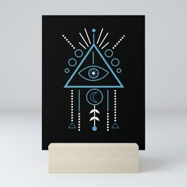 Illuminati Symbol Masonic Triangle Dreamcatcher Gift Mini Art Print