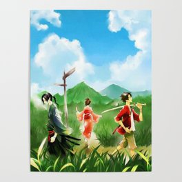 The Path of the Sunflowers Poster