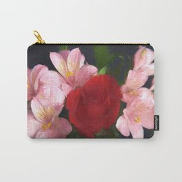 Pink and Red Flowers Carry-All Pouch