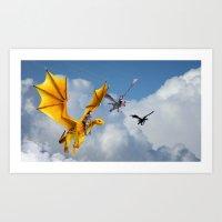 Dragon Rescue Art Print