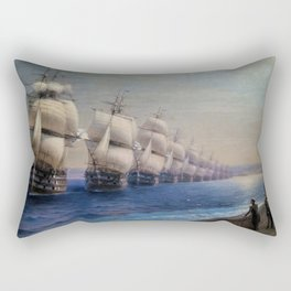 Parade of the Black Sea Fleet by Ivan Aivazovsky Rectangular Pillow