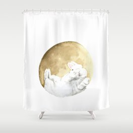 Moon rabbit -Moonlight Night- Shower Curtain