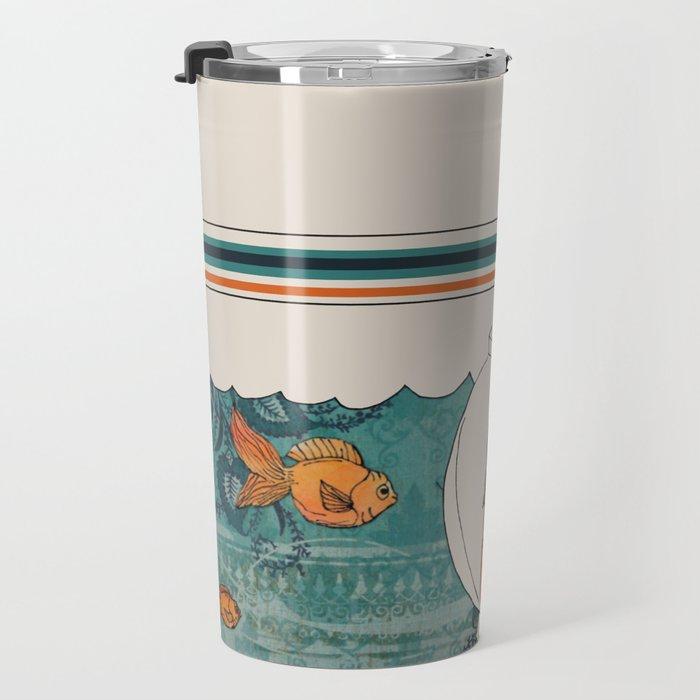girl in a fishbowl Travel Mug