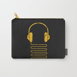 Gold Headphones Carry-All Pouch