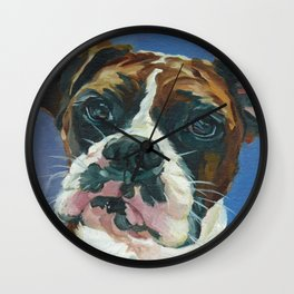 Khloe the Boxer Dog Fine Art Portrait Wall Clock