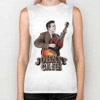johnny cash Biker Tanks featuring Johnny Cash by Daniel Cash
