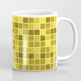 Gold glitter mosaic, geometric gold sparkle abstract pattern Coffee Mug