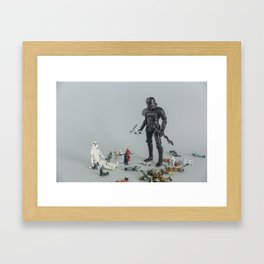 Sandbox Trooper Framed Art Print