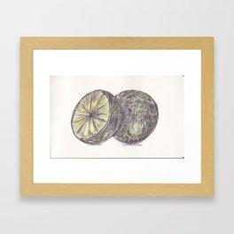Ballpen Lime got colored Framed Art Print