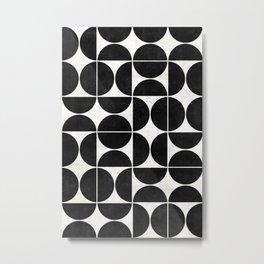 Mid-Century Modern Pattern No.3 - Concrete Metal Print