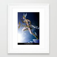 versace Framed Art Prints featuring VERSACE GOD by CARLOSGZZ