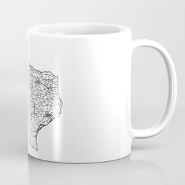 Texas White Map Coffee Mug