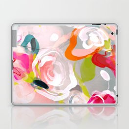 Dream flowers in pink rose floral abstract art Laptop & iPad Skin