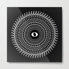 Music mandala no 2 - inverted Metal Print