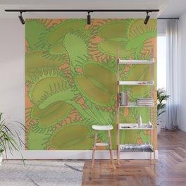 Free Hugs (Venus flytrap - Orange) Wall Mural