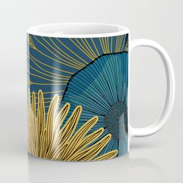 Navy floral background Coffee Mug