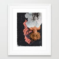 dreamer Framed Art Prints featuring DREAMER by Beth Hoeckel