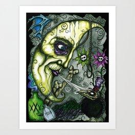 Lunacy by Morose Art Print