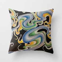Psychedelic Stuff Throw Pillow