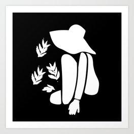 Femme au chapeau Art Print