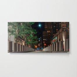 Church street at night, downtown, Manhattan, New York (2020-5-GNY161) Metal Print