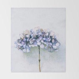 Delicate Hydrangea Throw Blanket
