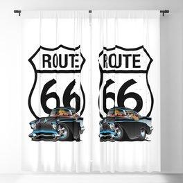 Route 66 Classic Car Nostalgia Blackout Curtain