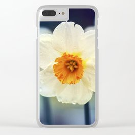 Daffodils Flower Clear iPhone Case